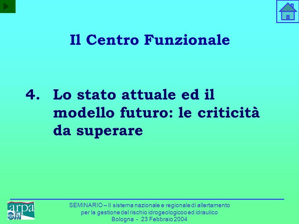 Lo stato attuale ed il modello futuro: le criticità da superare