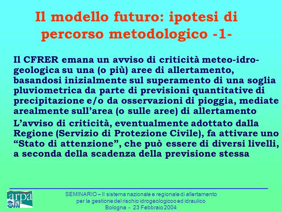 Il modello futuro: ipotesi di percorso metodologico -1-