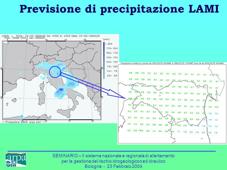 Previsione di precipitazione LAMI