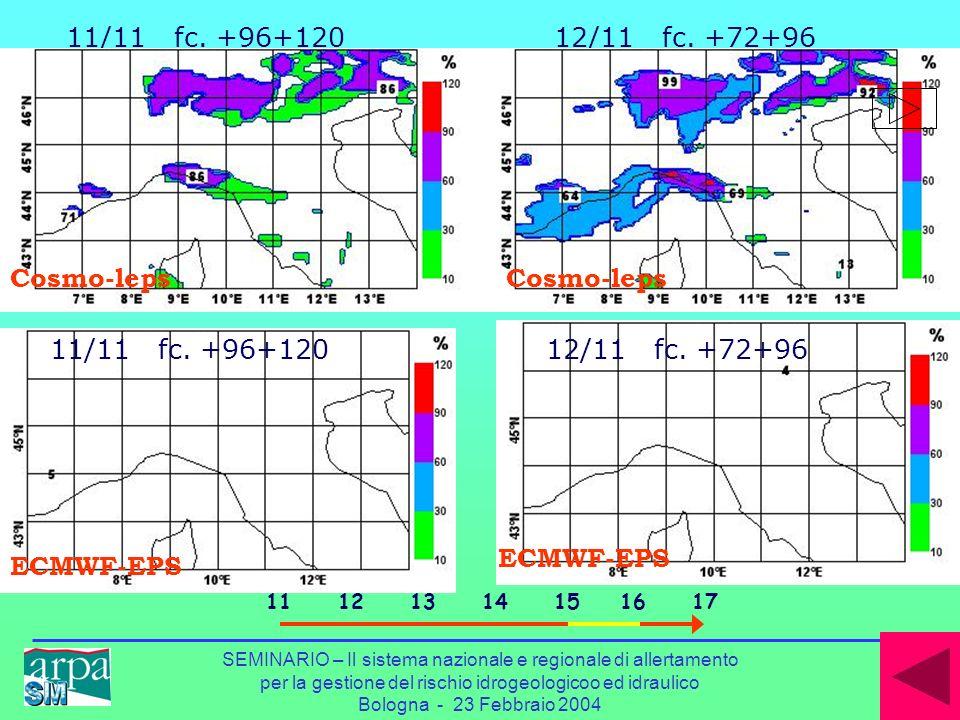 probabilità di precipitazione > 50mm/24h ECMWF