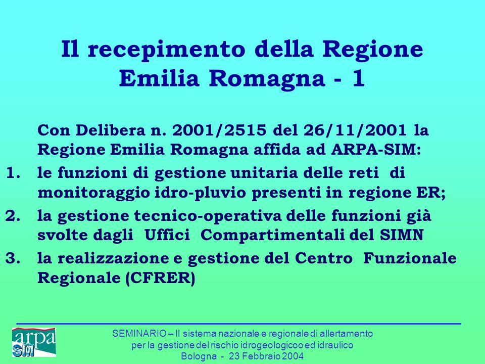 Il recepimento della Regione Emilia Romagna - 1