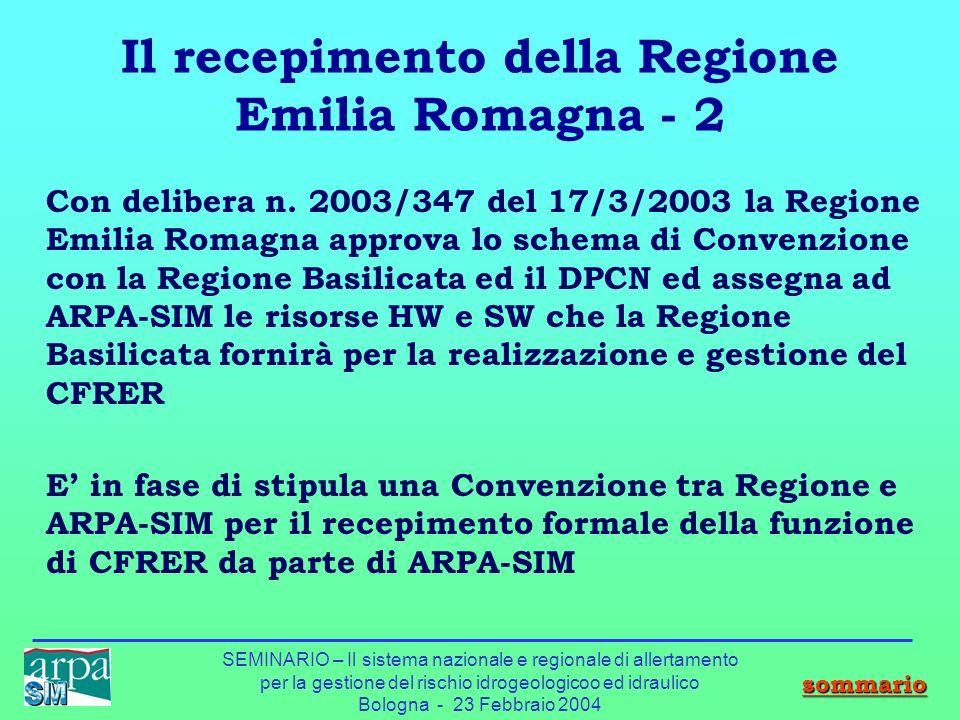 Il recepimento della Regione Emilia Romagna - 2