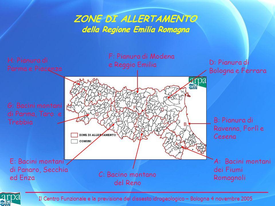 ZONE DI ALLERTAMENTO della Regione Emilia Romagna