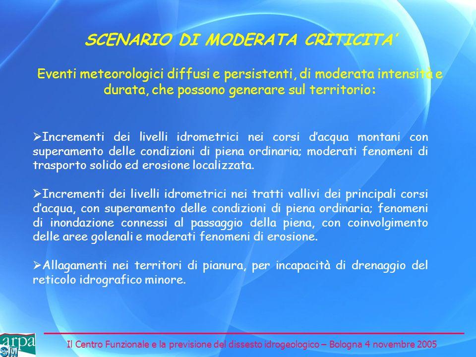 SCENARIO DI MODERATA CRITICITA'