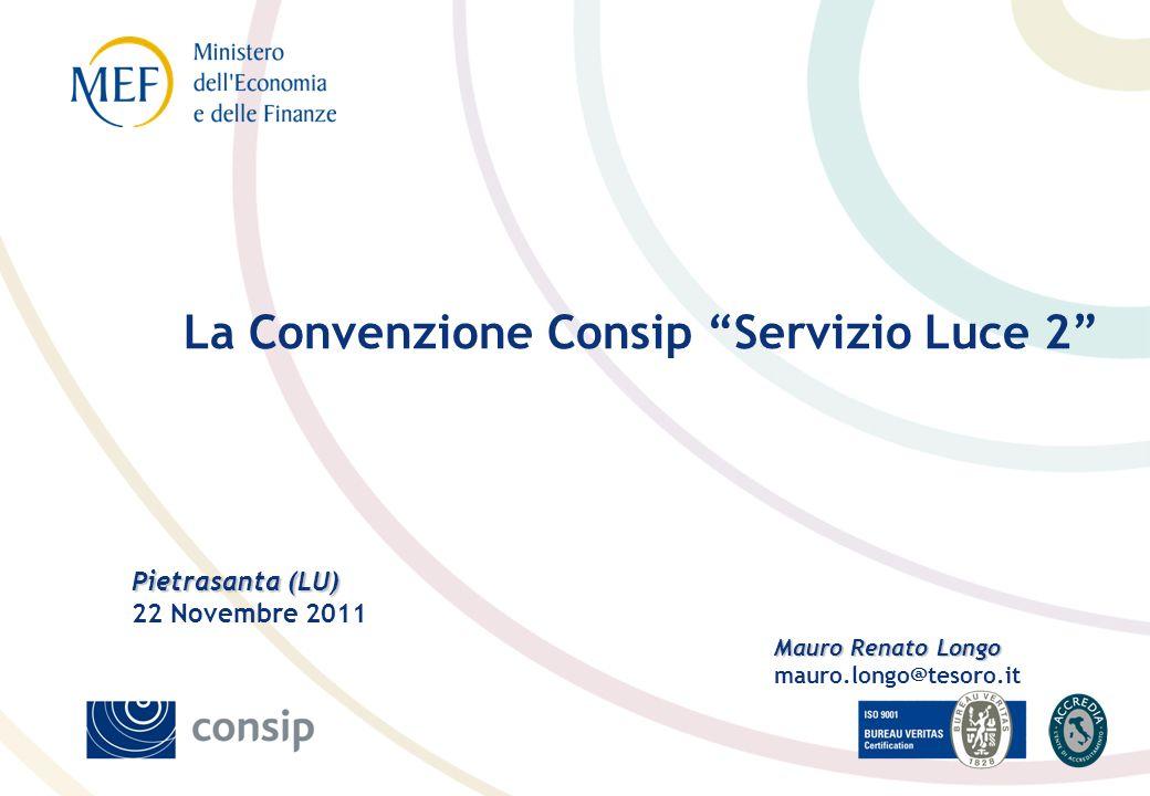La Convenzione Consip Servizio Luce 2