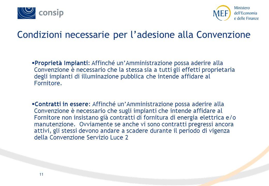 Condizioni necessarie per l'adesione alla Convenzione