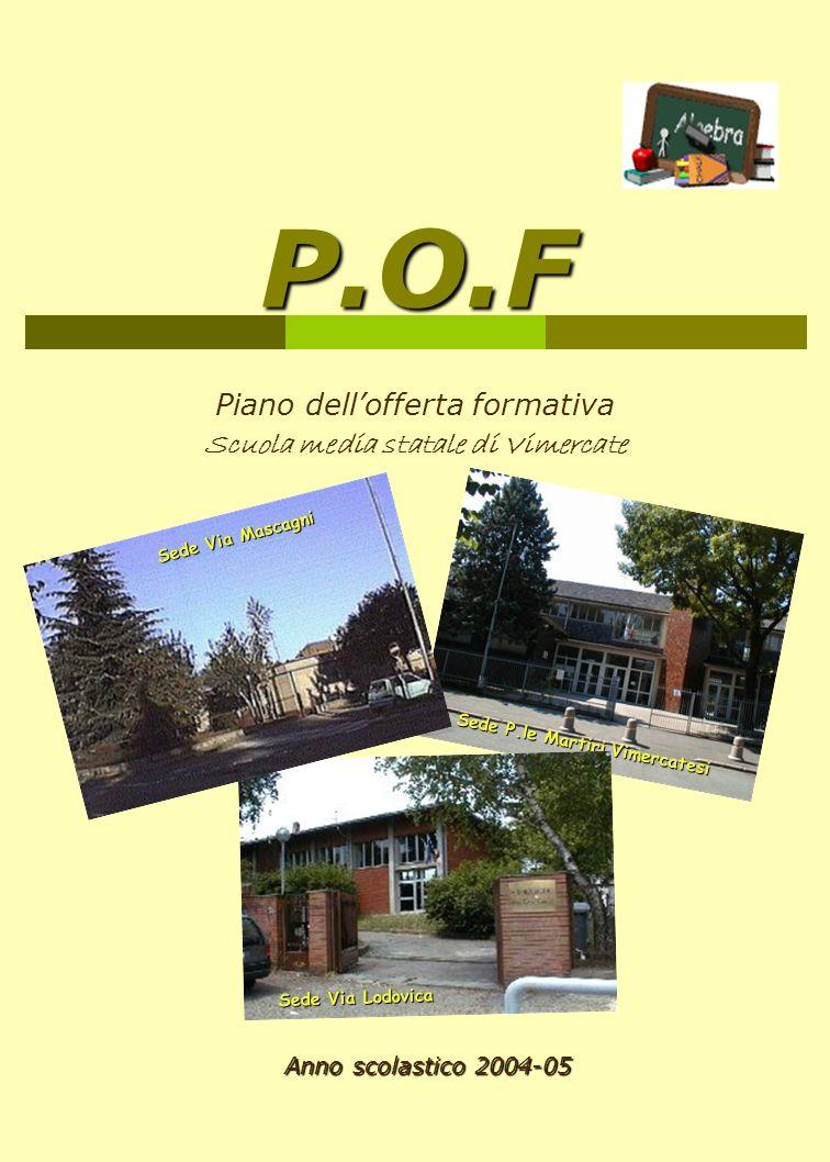 Piano dell'offerta formativa Scuola media statale di Vimercate
