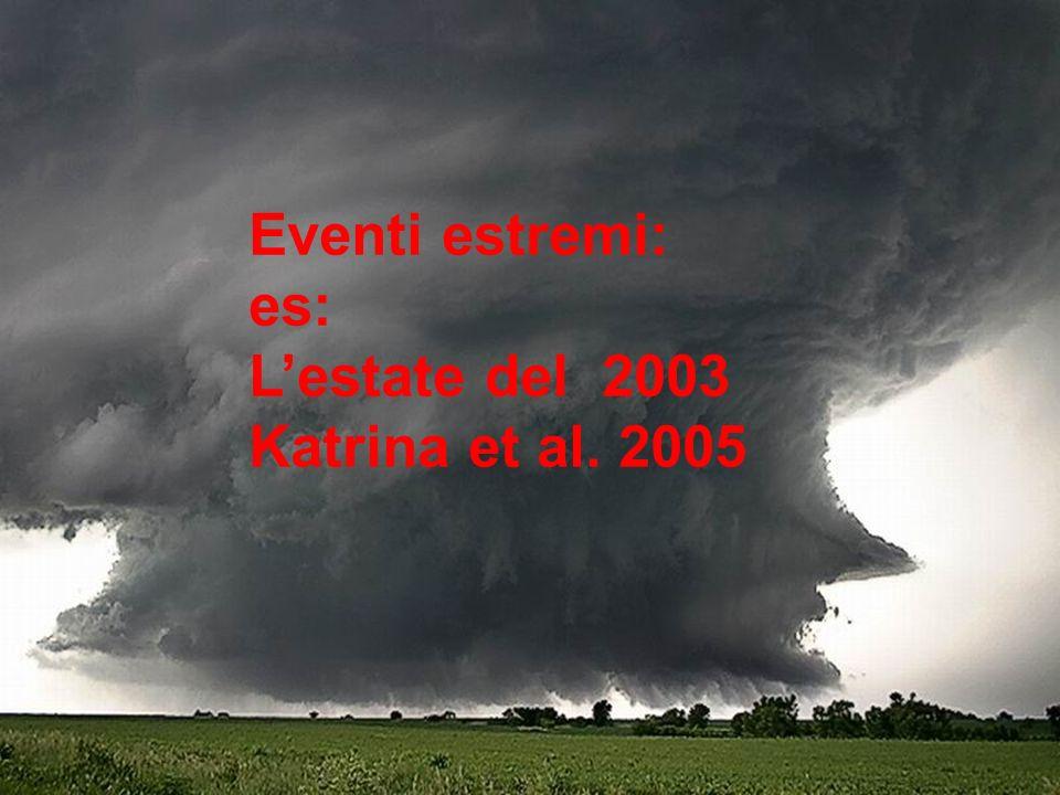Eventi estremi: es: L'estate del 2003 Katrina et al. 2005