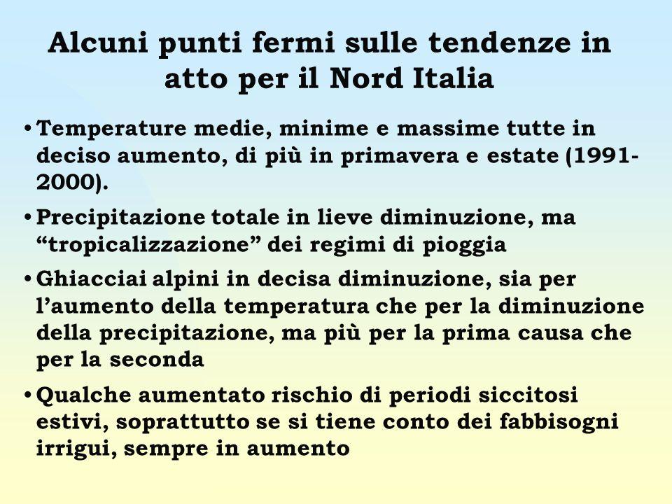 Alcuni punti fermi sulle tendenze in atto per il Nord Italia