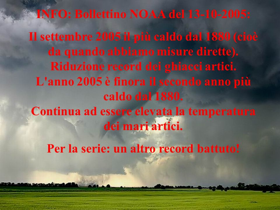 INFO: Bollettino NOAA del 13-10-2005: