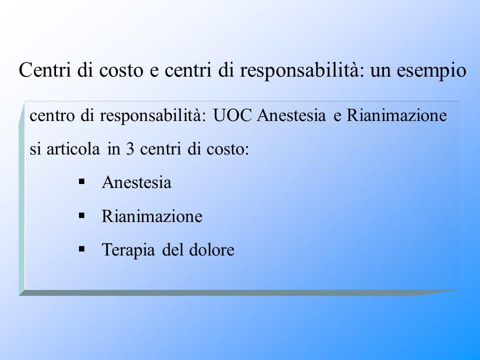 Centri di costo e centri di responsabilità: un esempio