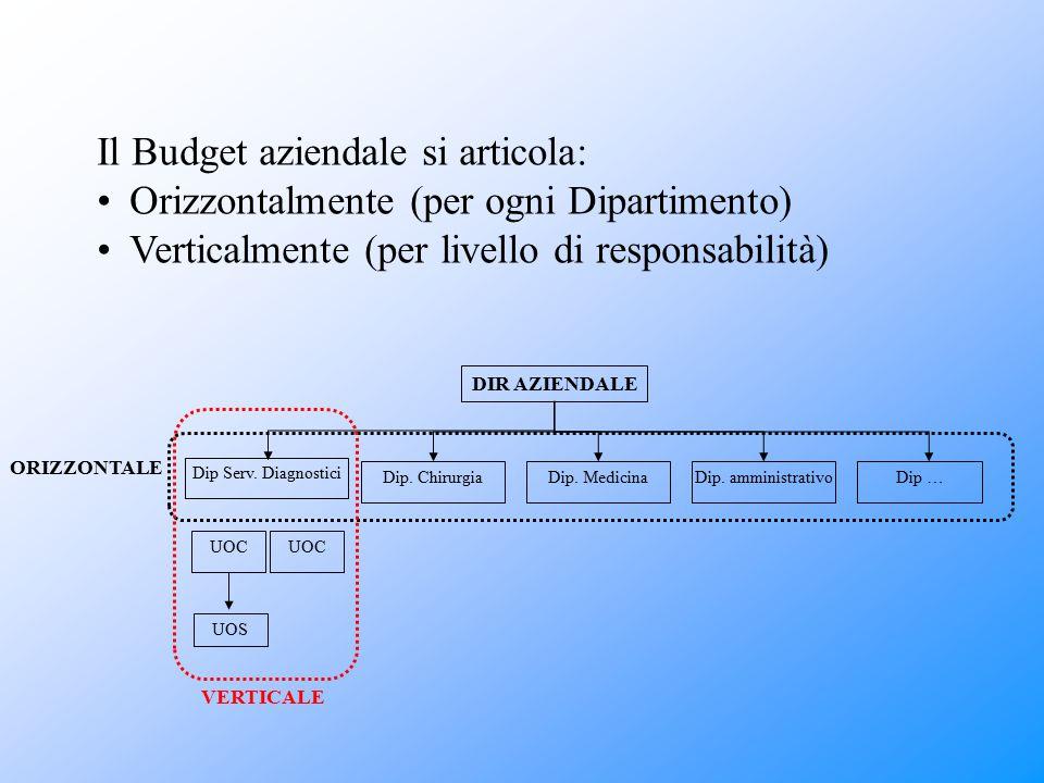 Il Budget aziendale si articola: