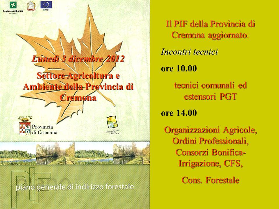 Settore Agricoltura e Ambiente della Provincia di Cremona