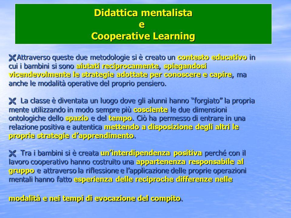Didattica mentalista e Cooperative Learning