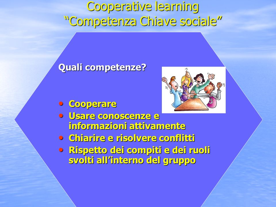 Cooperative learning Competenza Chiave sociale
