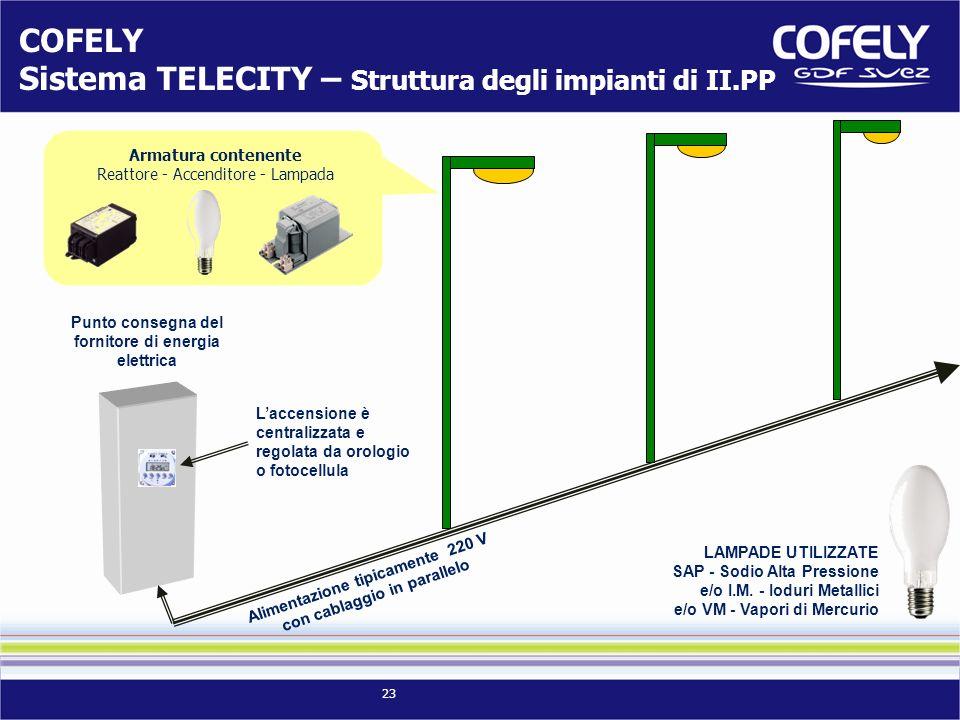COFELY Sistema TELECITY – Struttura degli impianti di II.PP