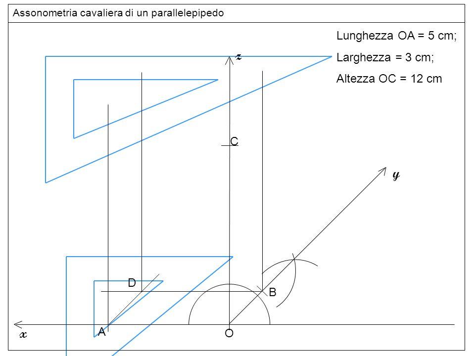 altezze z y x Lunghezza OA = 5 cm; Larghezza = 3 cm;