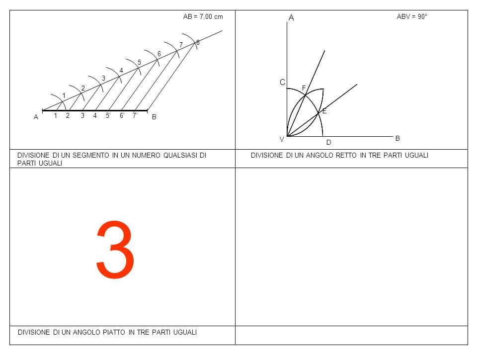 3 A C AB = 7,00 cm ABV = 90° B A 1 2 3 4 5 6 7 8 7' 6' 5' F E V B D