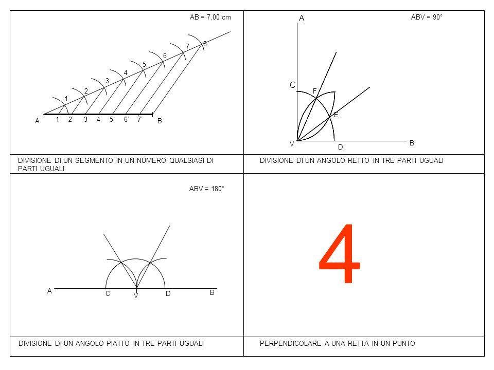 4 A C AB = 7,00 cm ABV = 90° B A 1 2 3 4 5 6 7 8 7' 6' 5' F E V B D