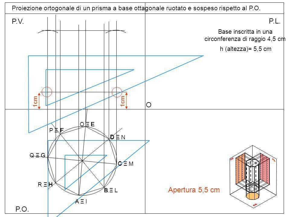 Base inscritta in una circonferenza di raggio 4,5 cm
