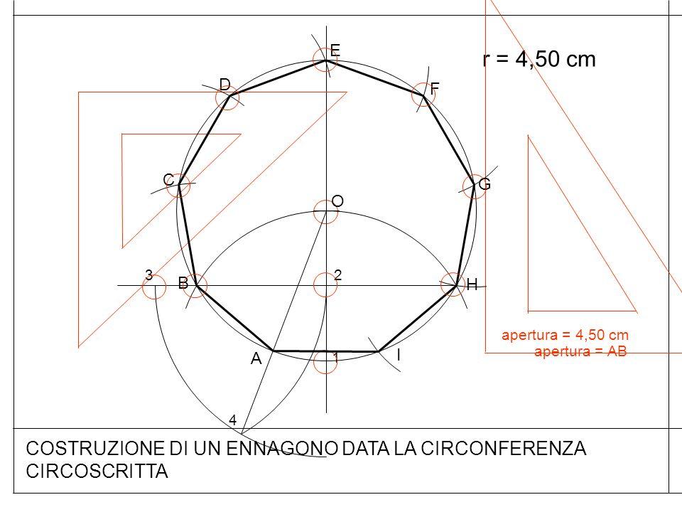 COSTRUZIONE DI UN ENNAGONO DATA LA CIRCONFERENZA CIRCOSCRITTA