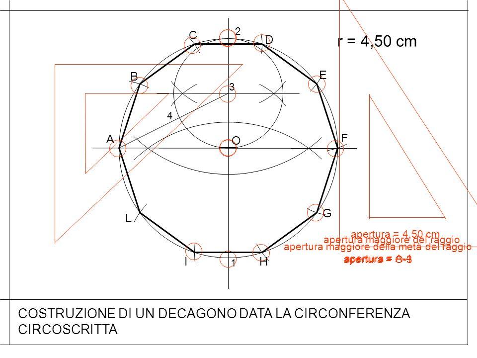 COSTRUZIONE DI UN DECAGONO DATA LA CIRCONFERENZA CIRCOSCRITTA