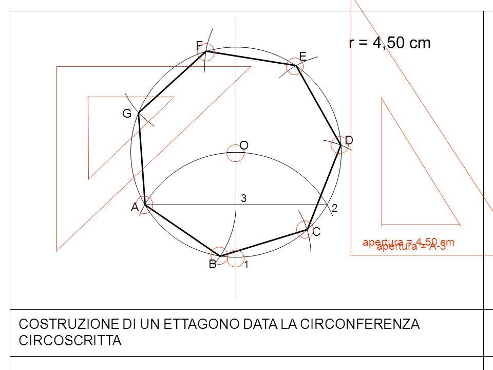 COSTRUZIONE DI UN ETTAGONO DATA LA CIRCONFERENZA CIRCOSCRITTA