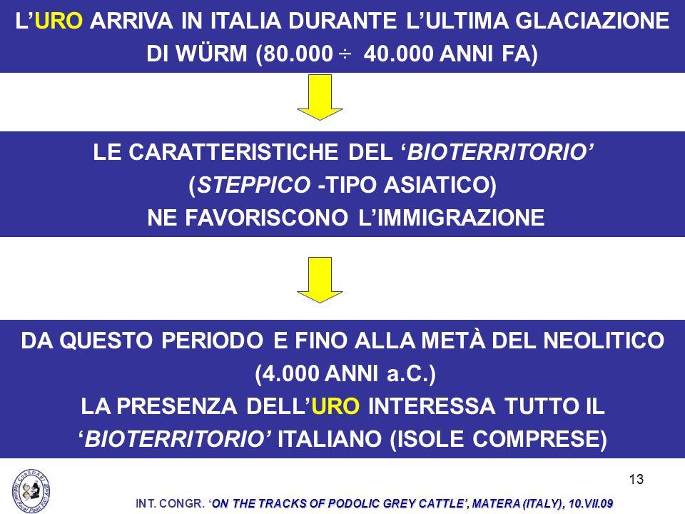 LE CARATTERISTICHE DEL 'BIOTERRITORIO' (STEPPICO -TIPO ASIATICO)