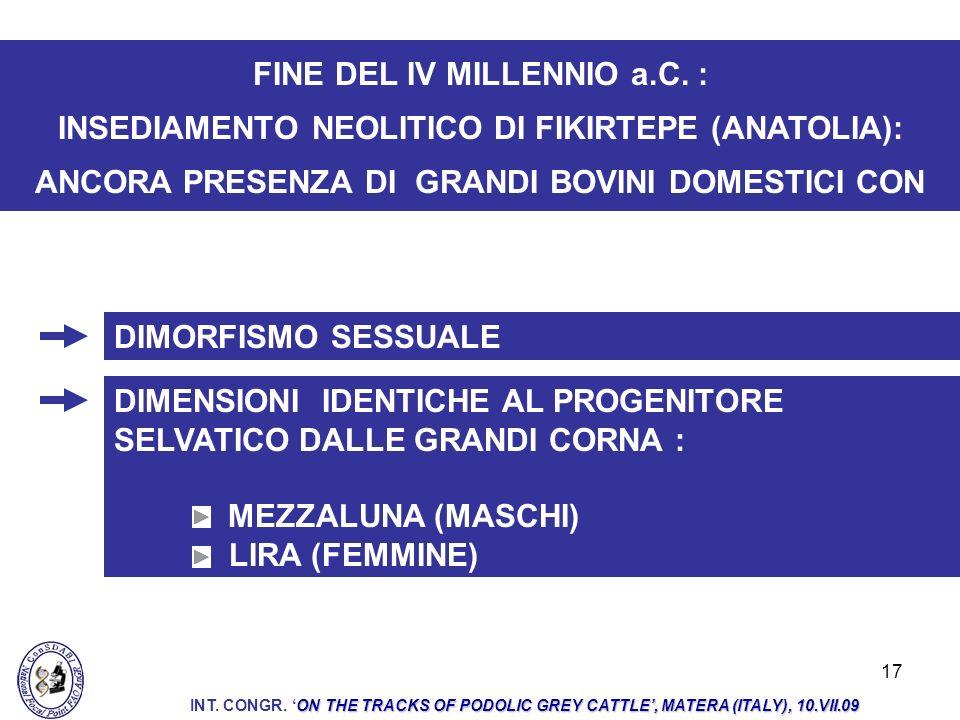 FINE DEL IV MILLENNIO a.C. :