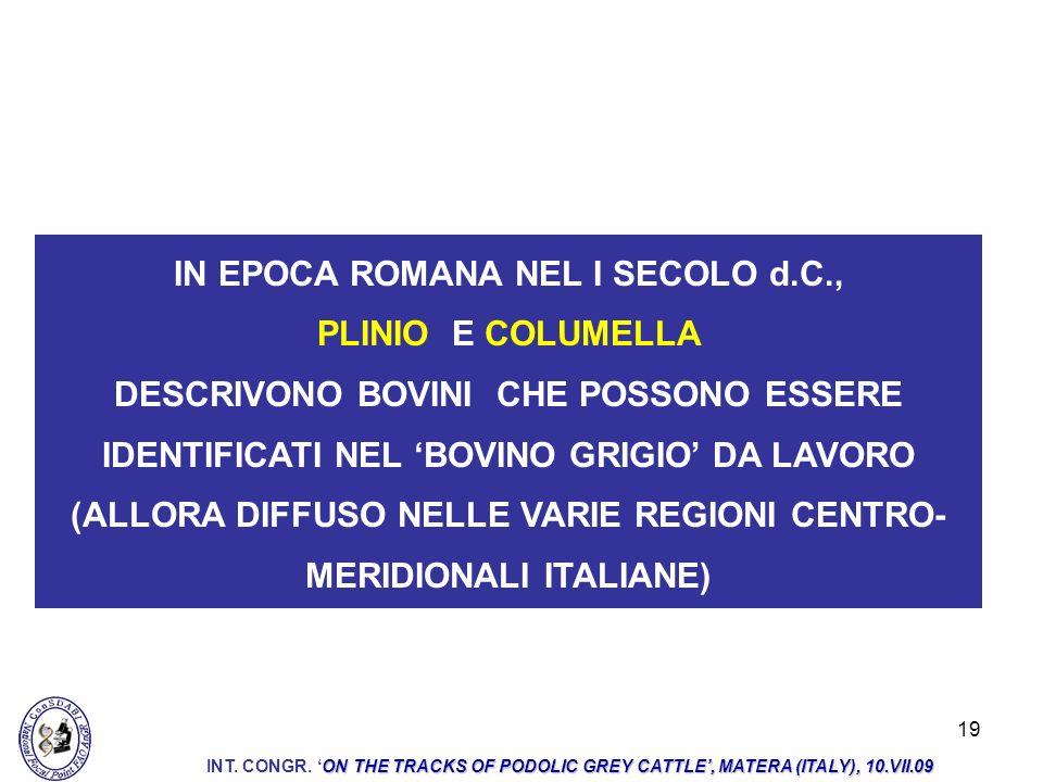 IN EPOCA ROMANA NEL I SECOLO d.C.,