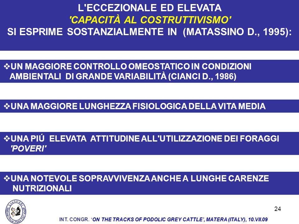 L ECCEZIONALE ED ELEVATA CAPACITÀ AL COSTRUTTIVISMO