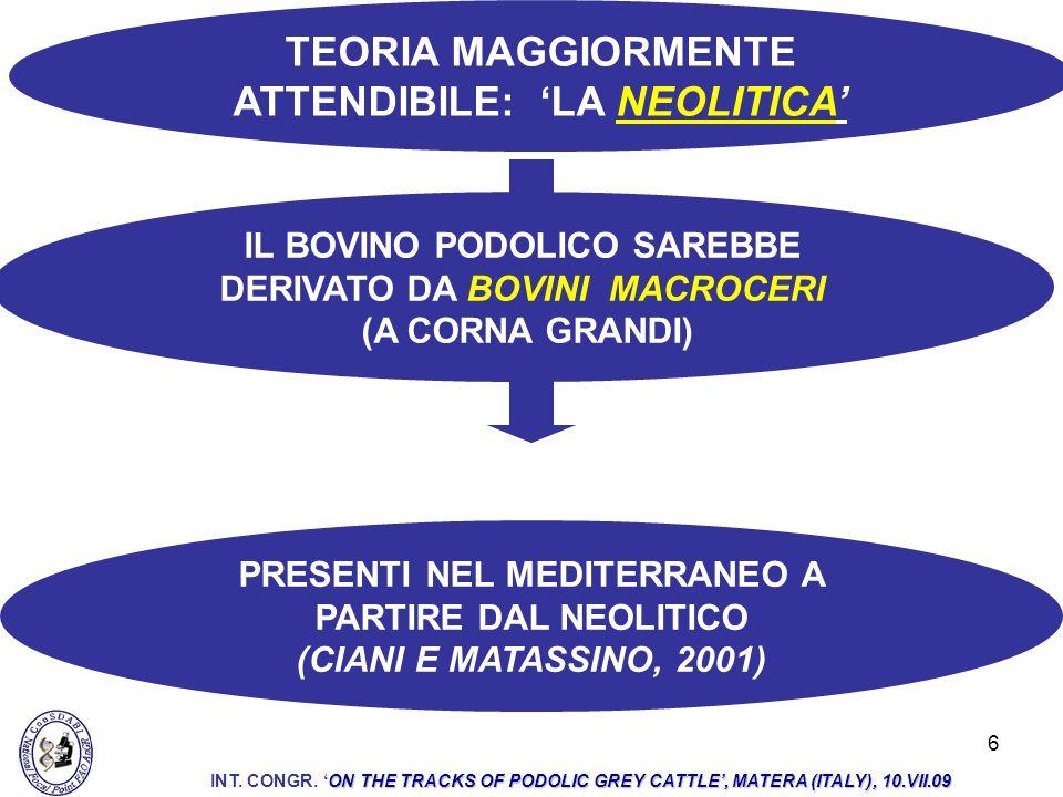 TEORIA MAGGIORMENTE ATTENDIBILE: 'LA NEOLITICA'
