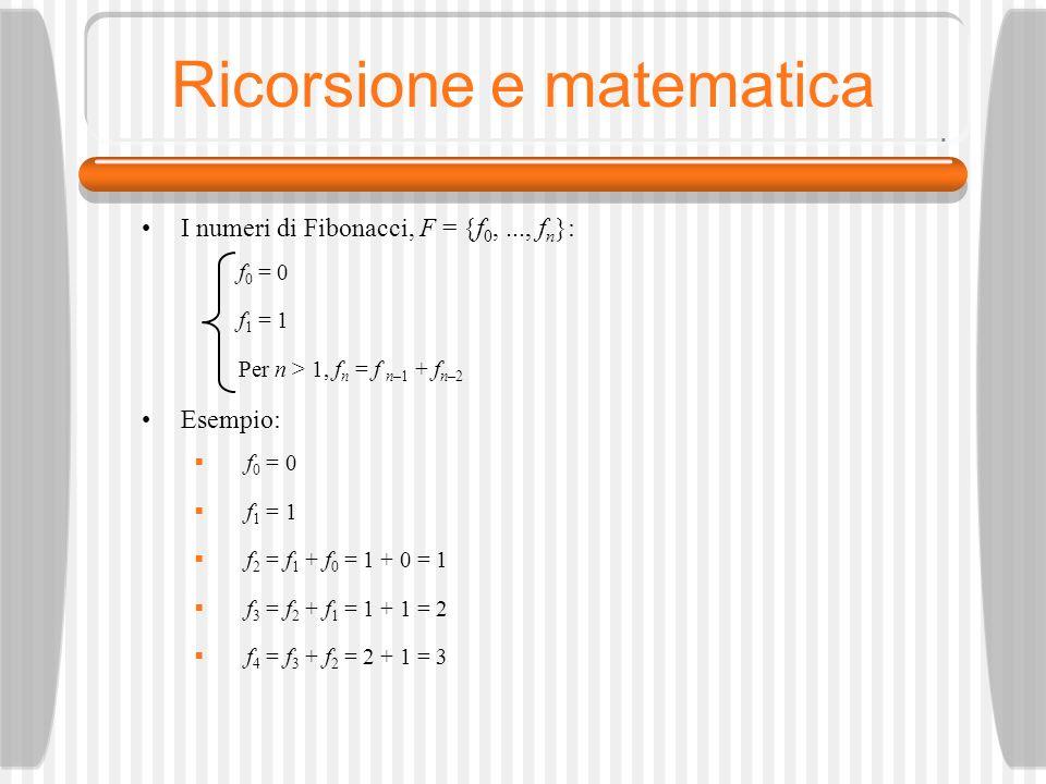 Ricorsione e matematica