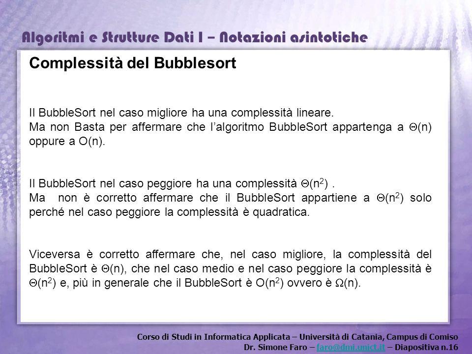 Complessità del Bubblesort