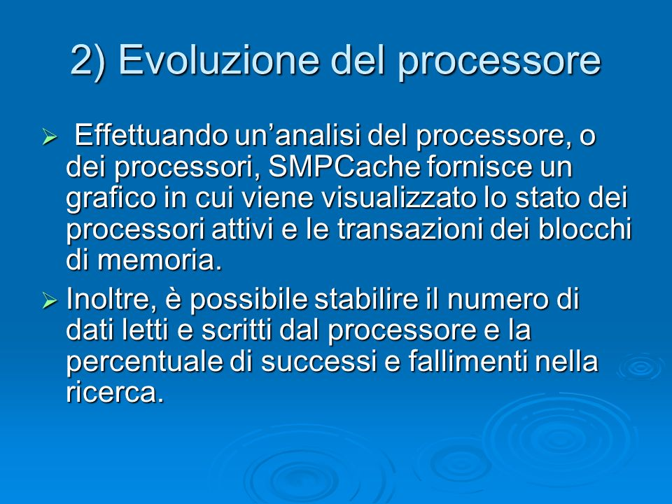 2) Evoluzione del processore