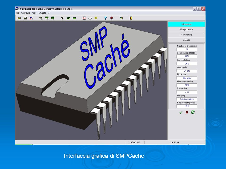 Interfaccia grafica di SMPCache