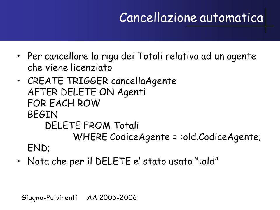 Cancellazione automatica