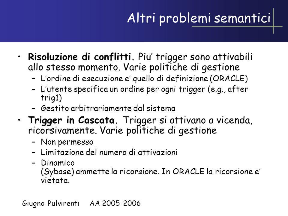 Altri problemi semantici