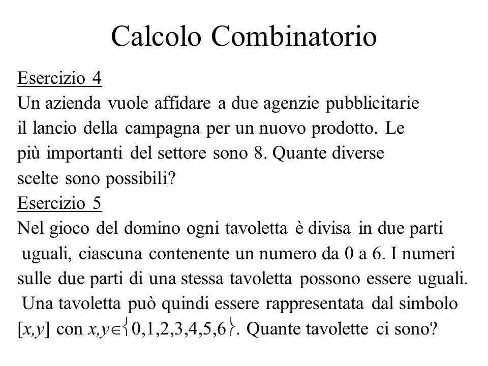 Calcolo Combinatorio Esercizio 4
