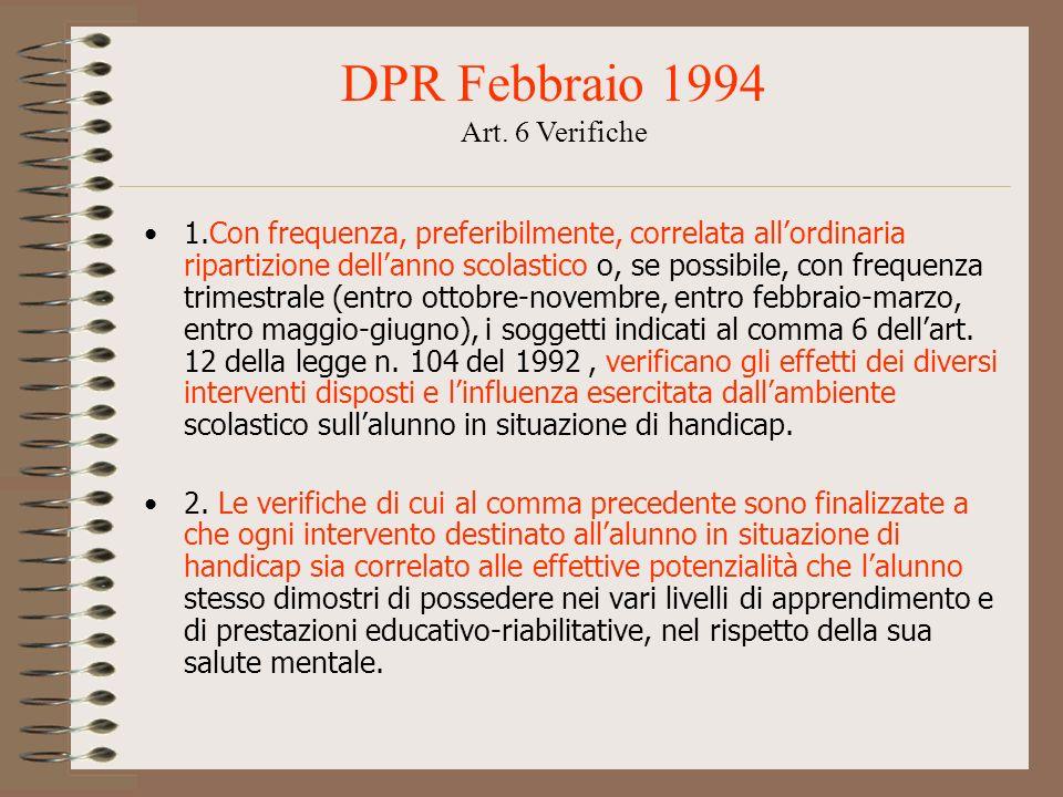 DPR Febbraio 1994 Art. 6 Verifiche