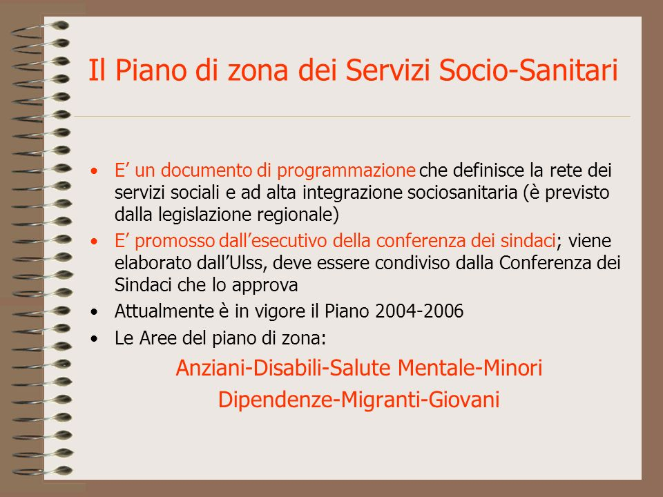Il Piano di zona dei Servizi Socio-Sanitari