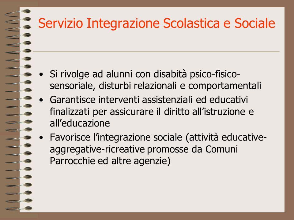 Servizio Integrazione Scolastica e Sociale