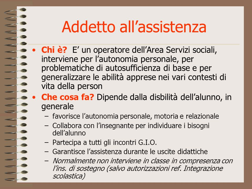 Addetto all'assistenza