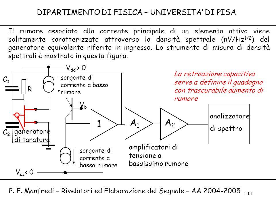 A1 A2 1 DIPARTIMENTO DI FISICA – UNIVERSITA' DI PISA