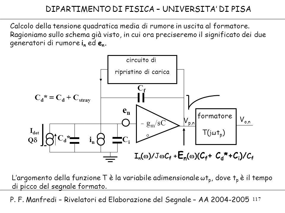 en T(jwtp) DIPARTIMENTO DI FISICA – UNIVERSITA' DI PISA Cf