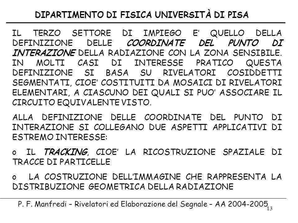 DIPARTIMENTO DI FISICA UNIVERSITÀ DI PISA