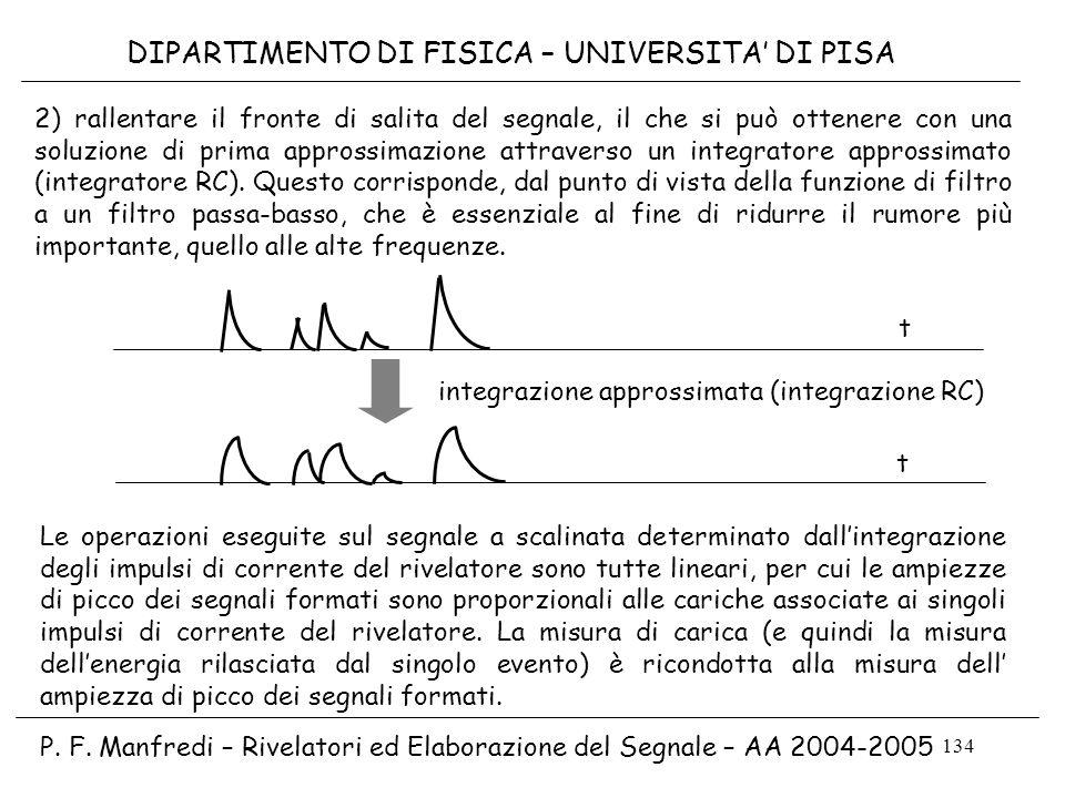 integrazione approssimata (integrazione RC)
