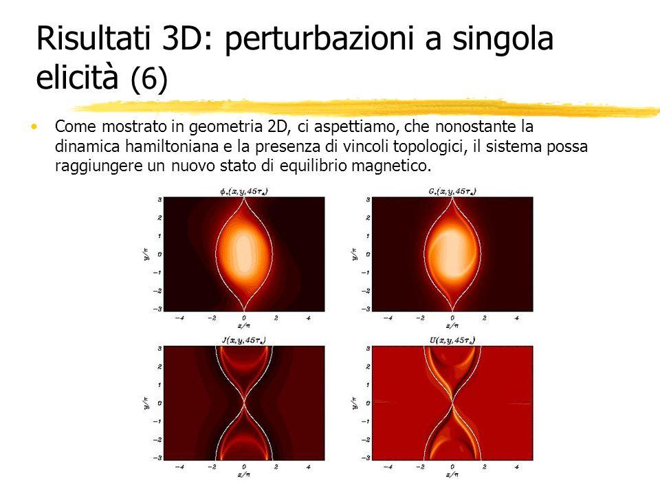 Risultati 3D: perturbazioni a singola elicità (6)