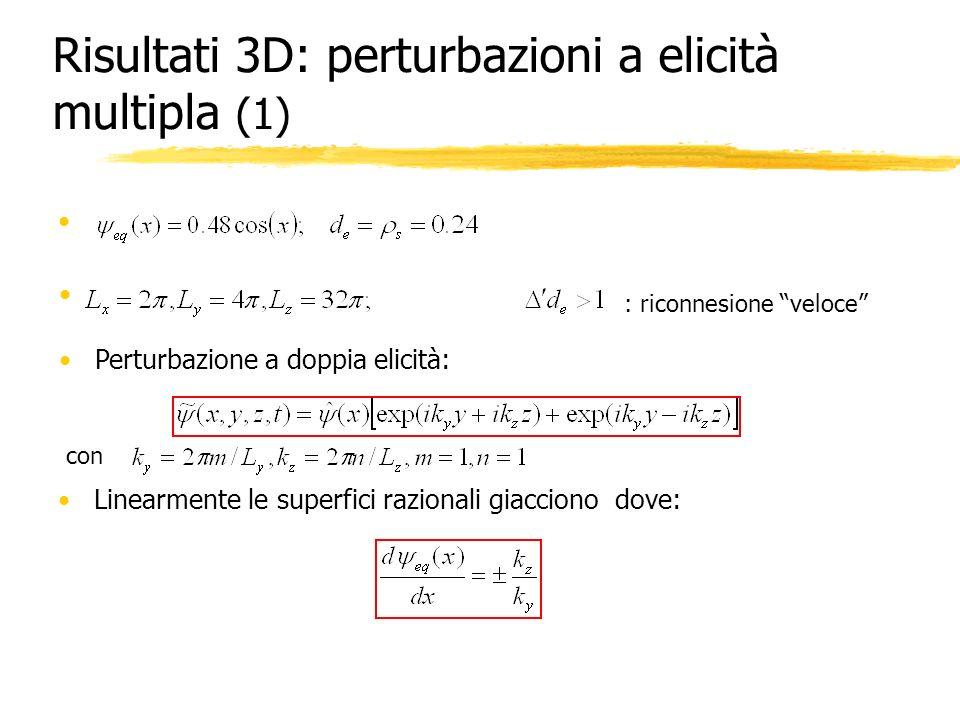 Risultati 3D: perturbazioni a elicità multipla (1)
