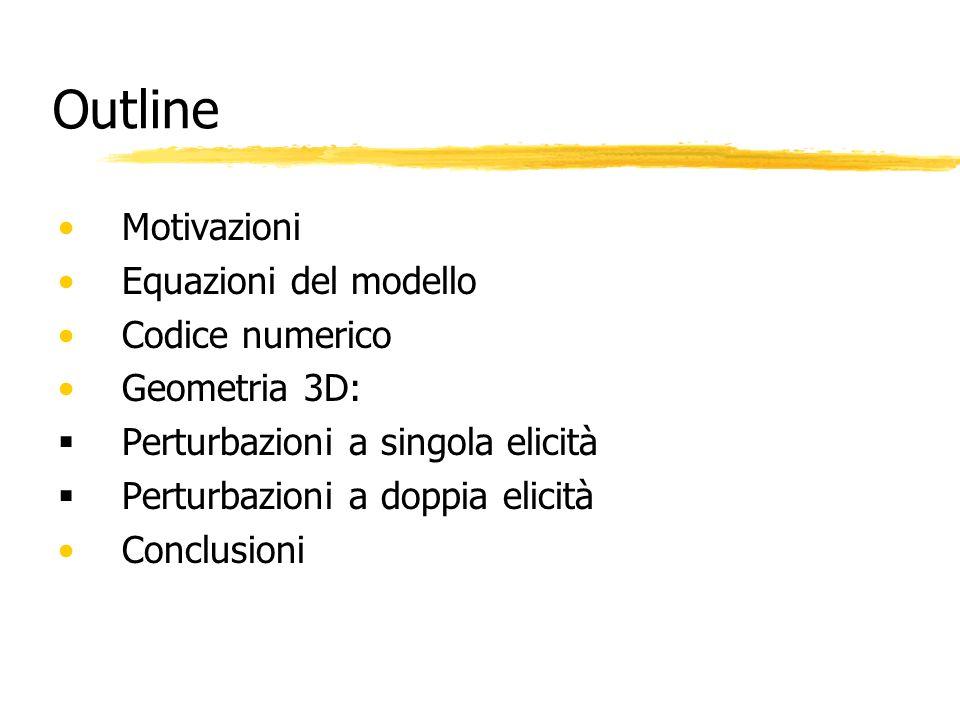 Outline Motivazioni Equazioni del modello Codice numerico